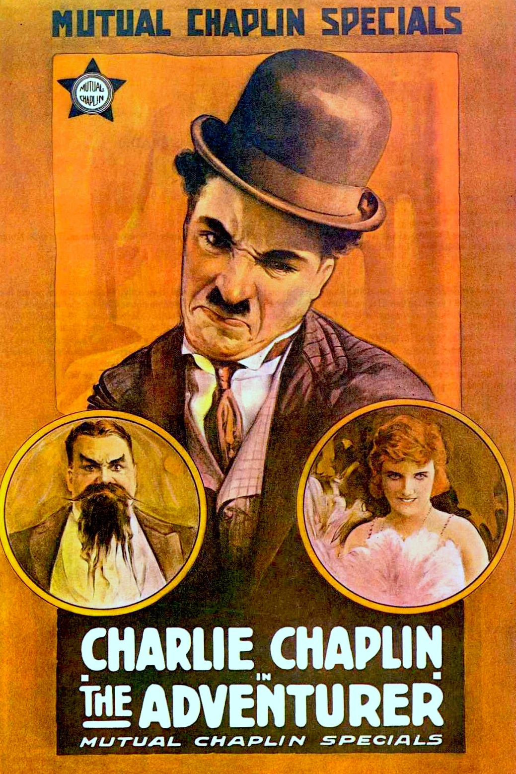 The Adventurer (1917, Charlie Chaplin) US poster