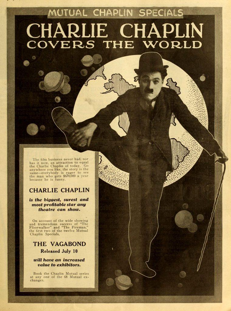 The Vagabond (1916, Charlie Chaplin) US Mutual trade ad