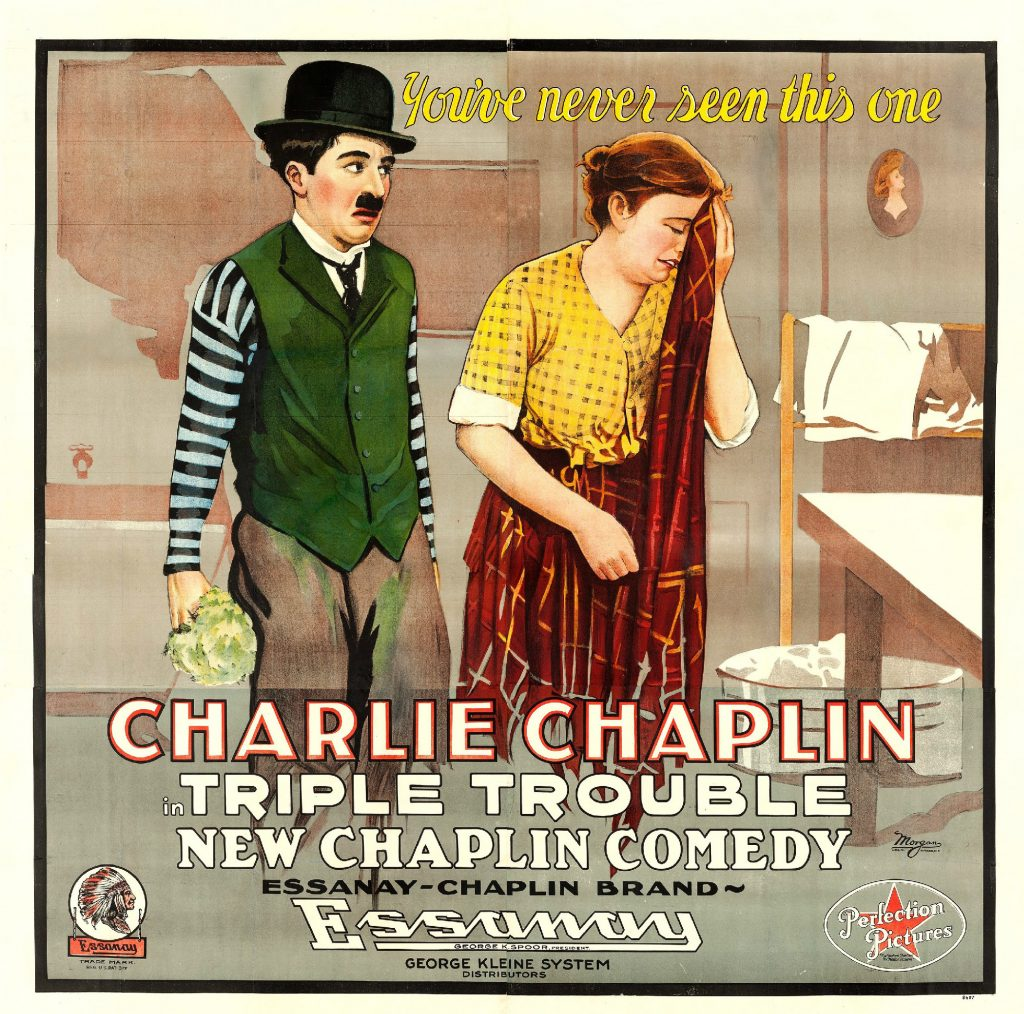 Triple Trouble (1918, Charlie Chaplin) US poster