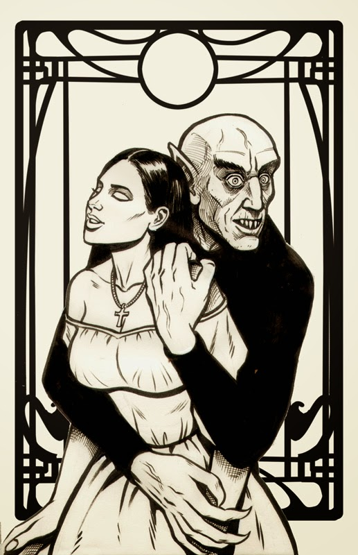 A Nosferatu Pin-up by Anthony H, 2018