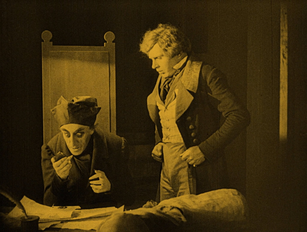 """Your wife has a beautiful neck..."" Max Schreck (L) and Gustav von Wangenheim in Nosferatu (1922) UK Eureka-Masters of Cinema Blu-ray"