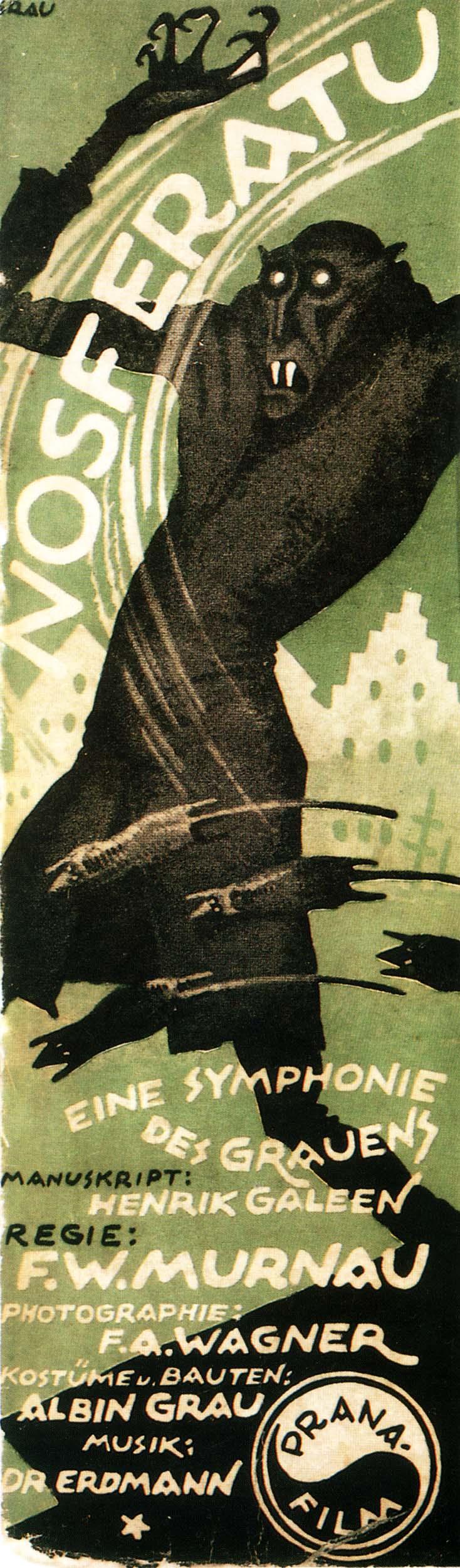 Nosferatu (1922) insert poster by Albin Grau