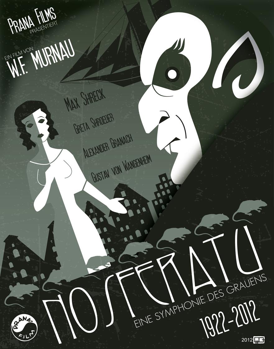 Nosferatu (1922) poster by Mario Cruz aka Fantitlan, 2012