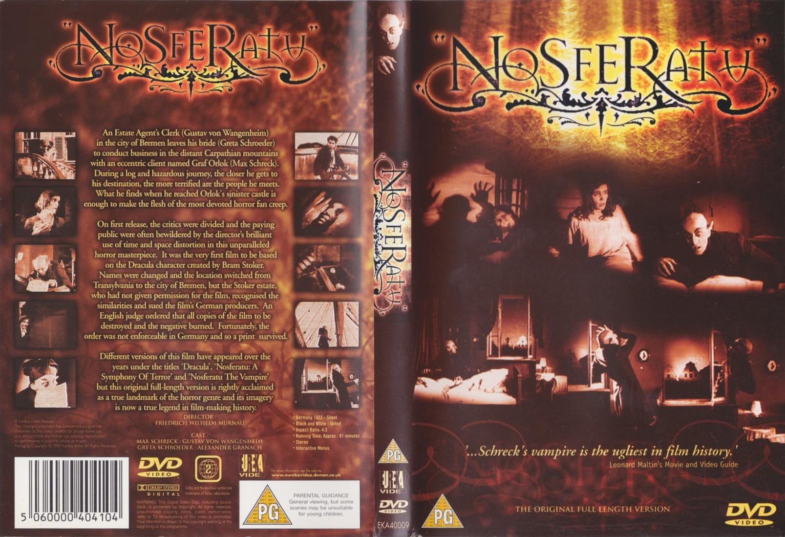 Nosferatu (1922) UK Eureka 1999 bootleg DVD