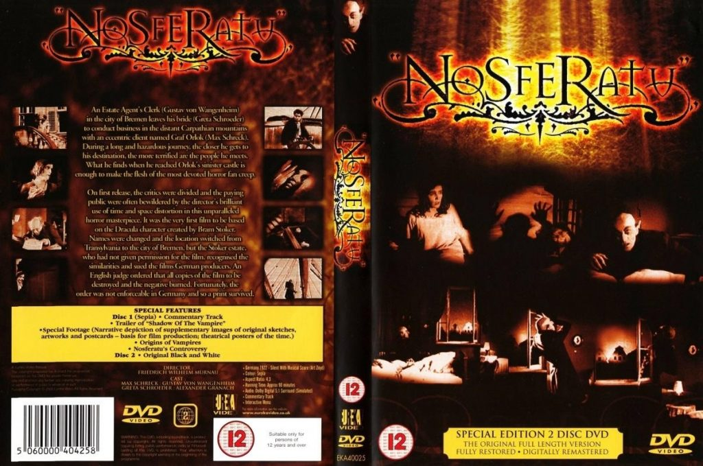 Nosferatu (1922) UK Eureka 2-DVD set (2000)