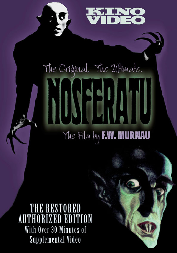 Nosferatu (1922) US 2002 Kino DVD, with Donald Sosin and Art Zoyd scores