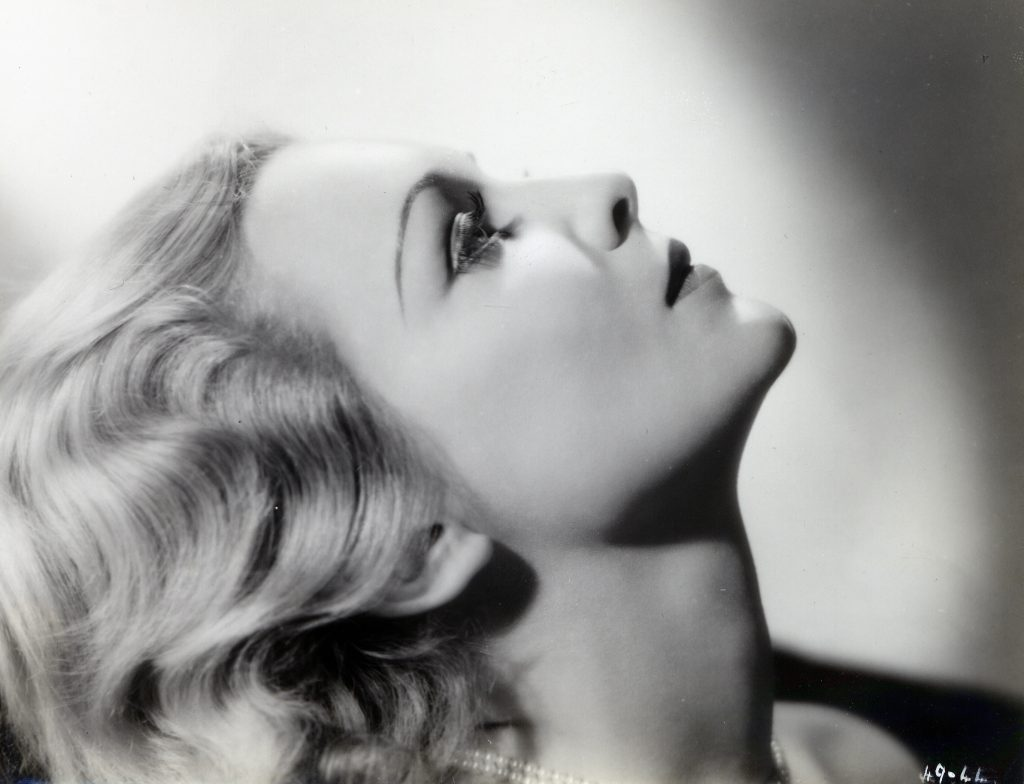 Madeleine Carroll in The 39 Steps (1935, dir. Alfred Hitchcock), profile
