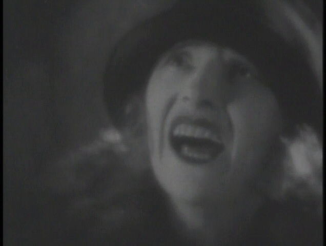 Murky: poor Eve is cropped again in The Lodger (1926, dir. Alfred Hitchcock). UK GMVS/Waterfall bootleg DVD.