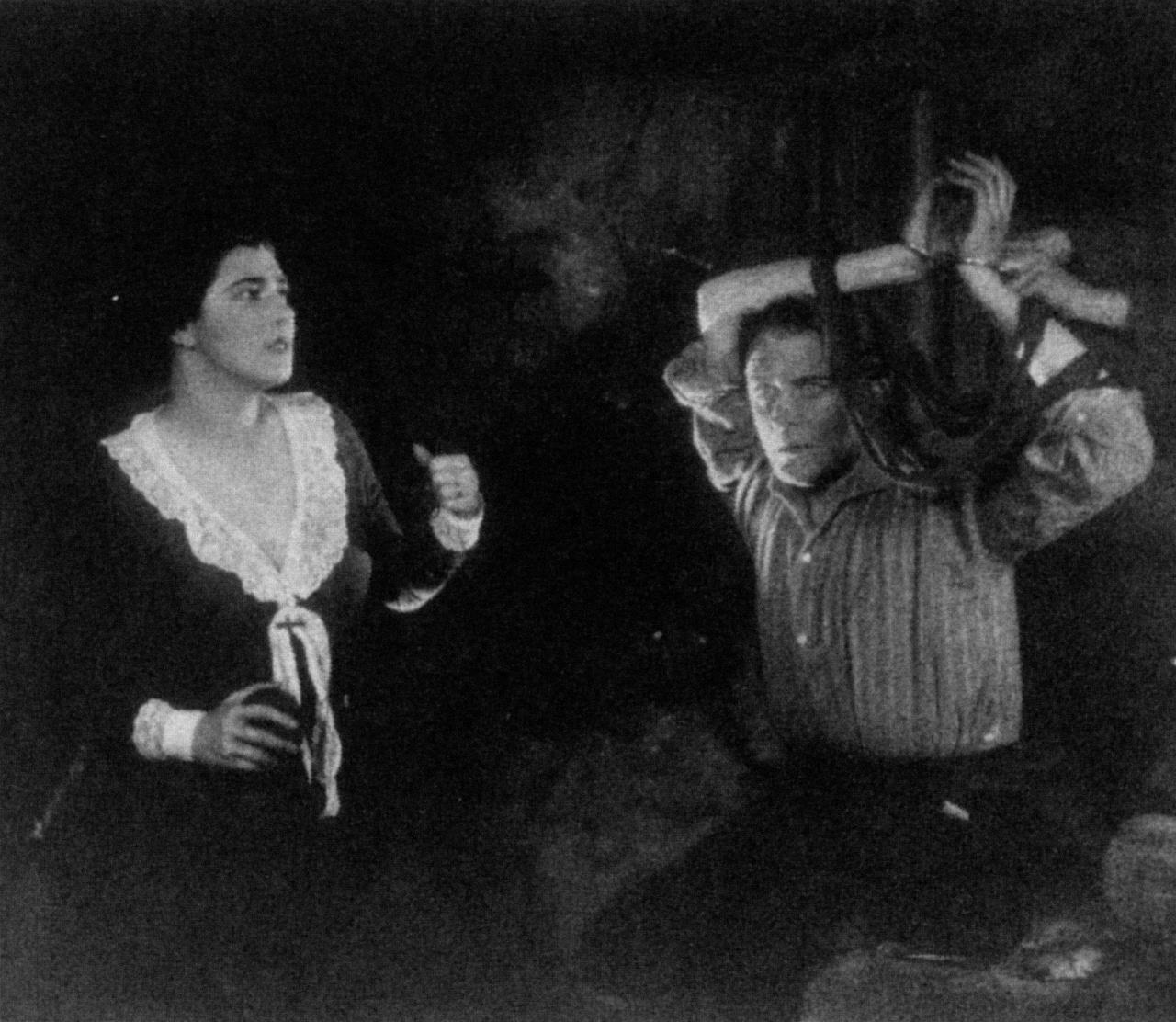 Nita Naldi and Malcolm Keen in The Mountain Eagle (1926, dir. Alfred Hitchcock)