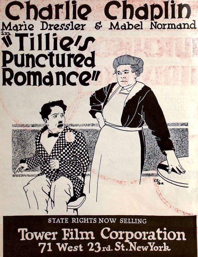 Tillie's Punctured Romance (1914) US 1918 reissue trade advert