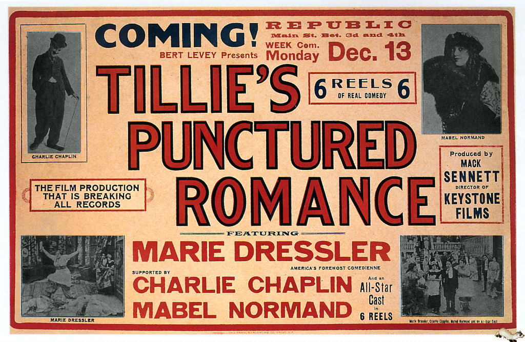 Tillie's Punctured Romance (1914) US magazine advert