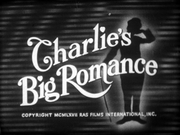Tillie's Punctured Romance aka Charlie's Big Romance (1914, Charlie Chaplin), 1967 sound reissue title card