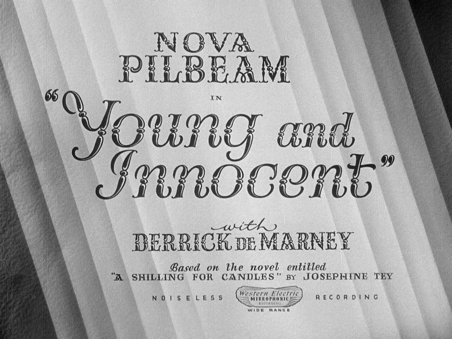 Pure as the driven snow: Young and Innocent (1937, dir. Alfred Hitchcock). UK Network Blu-ray screenshot.