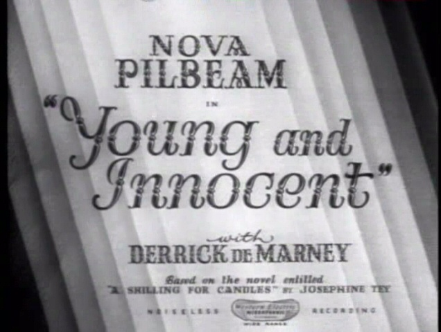 Not so Young and not so Innocent: Young and Innocent (1937, dir. Alfred Hitchcock) slightly better –but not by much. US Madacy bootleg DVD screenshot.