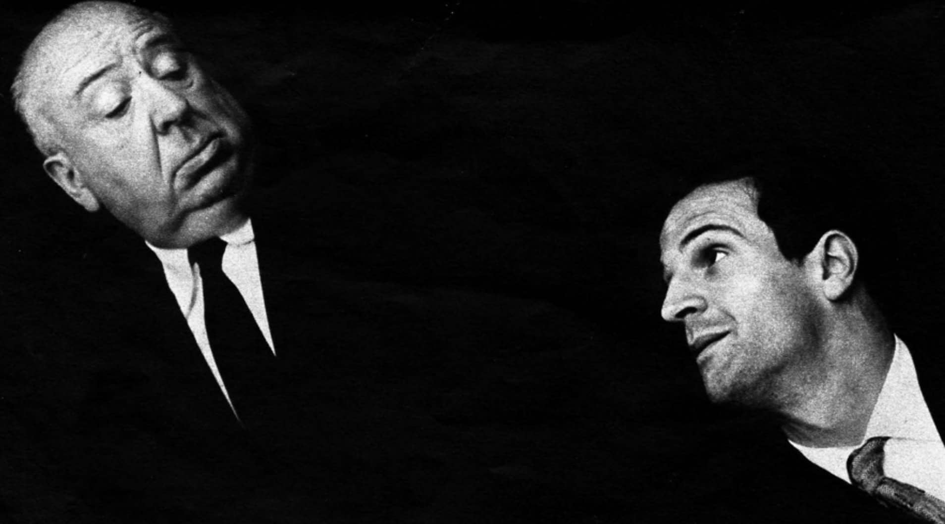 Alfred Hitchcock and François Truffaut in 1962
