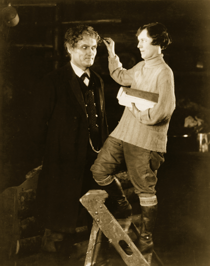 Bernhard Goetzke and Alma Reville on the set of The Mountain Eagle (1926, dir. Alfred Hitchcock)
