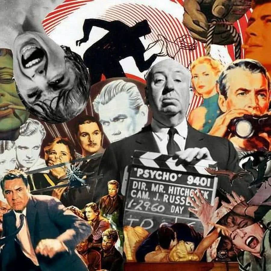 Films of Alfred Hitchcock collage by Adan Chance, 2010