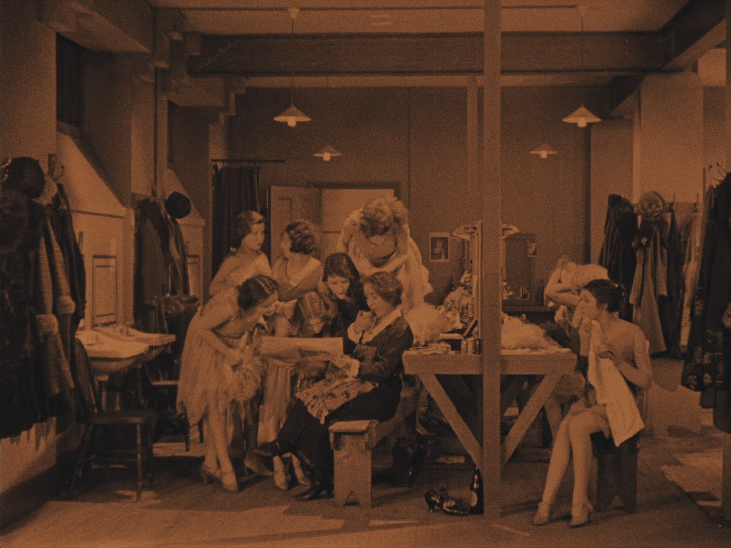 The Lodger (1926, dir. Alfred Hitchcock) US Criterion Blu-ray screenshot, showgirls