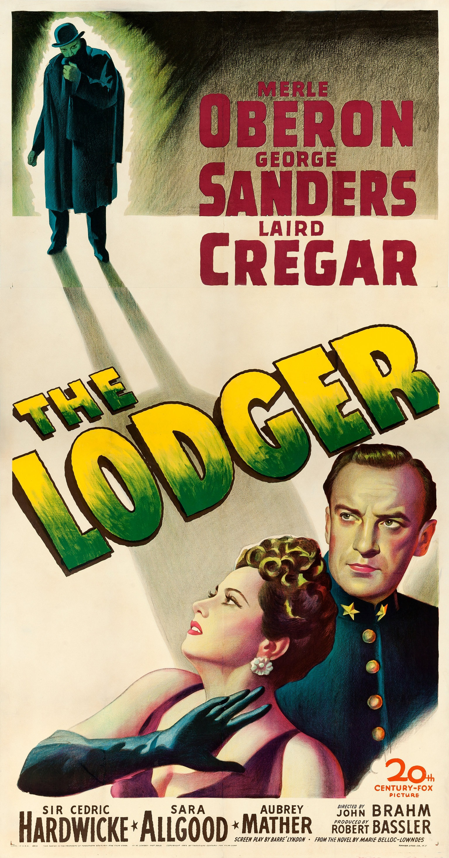 The Lodger (1944) US three sheet poster