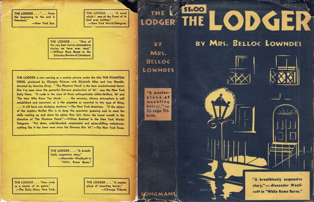 The Lodger by Marie Belloc Lowndes, 1935 US Longman, Green and Co. photoplay edition