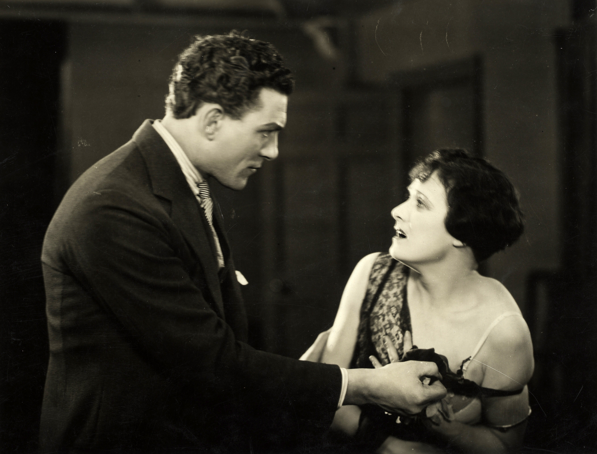 Carl Brisson and Lillian Hall-Davis in The Ring (1927, dir. Alfred Hitchcock)