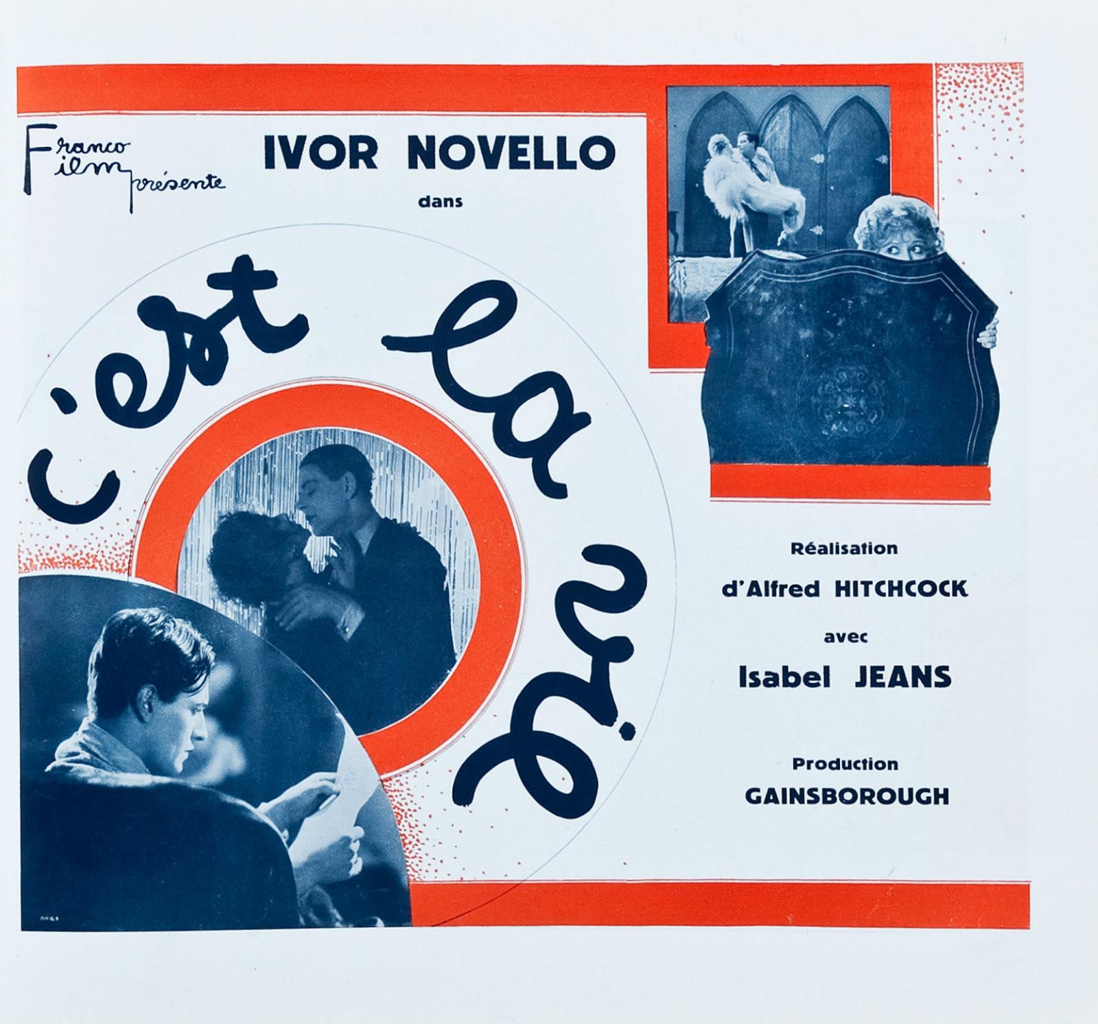 Downhill aka C'est la vie (1927, dir. Alfred Hitchcock) French pressbook