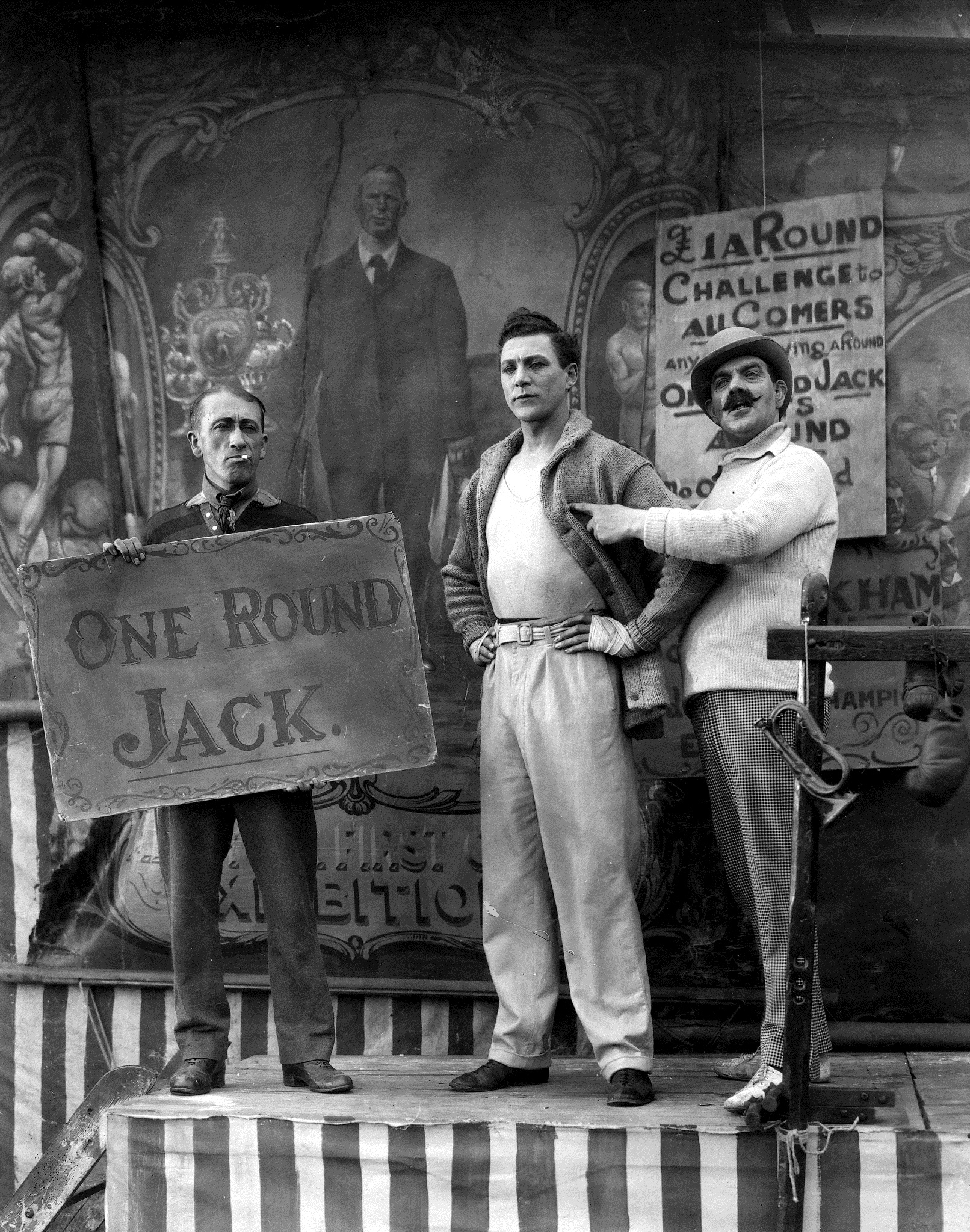 L-R Gordon Harker, Carl Brisson and Harry Terry in The Ring (1927, dir. Alfred Hitchcock)