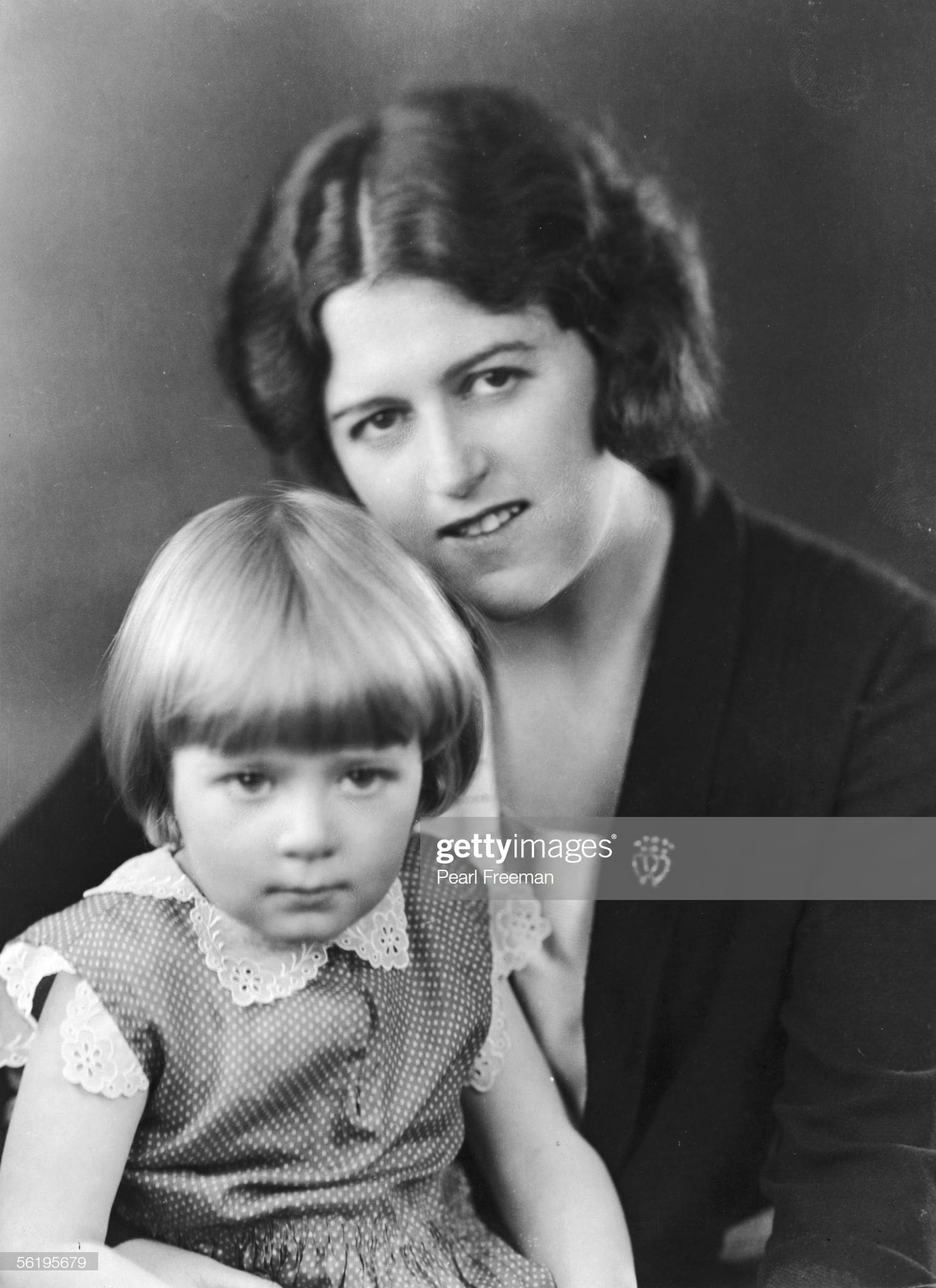 Helen de Guerry Simpson and her daughter Clemence, named after her sometime writing partner Clemence Dane, c.1925
