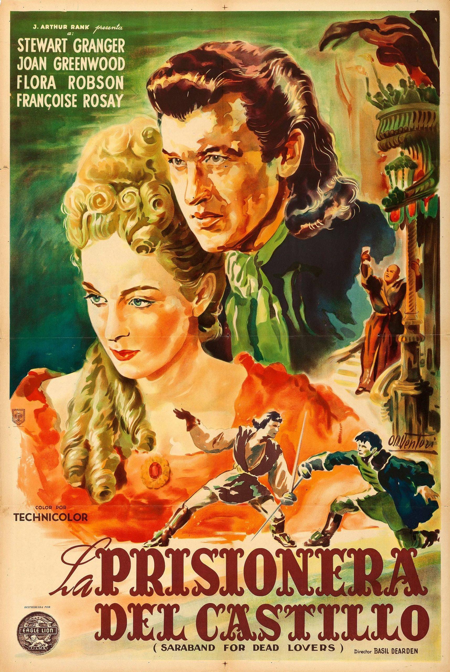 Saraband for Dead Lovers aka La prisionera del castillo (1948) Argentinian poster by Osvaldo Venturi