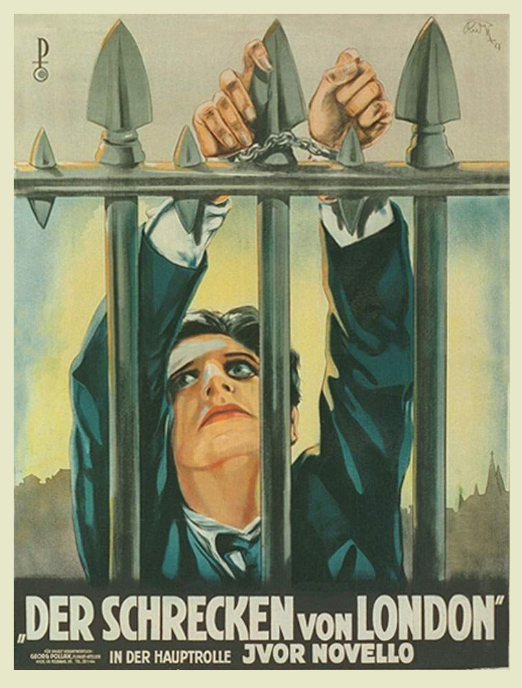 The Lodger aka Der Schrecken von London (Terror of London, 1926, dir. Alfred Hitchcock) Austrian poster
