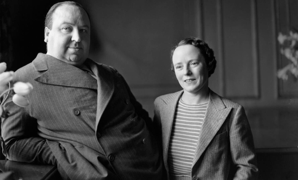 Alfred Hitchcock and Alma Reville by Howard Coster 1936, © National Portrait Gallery