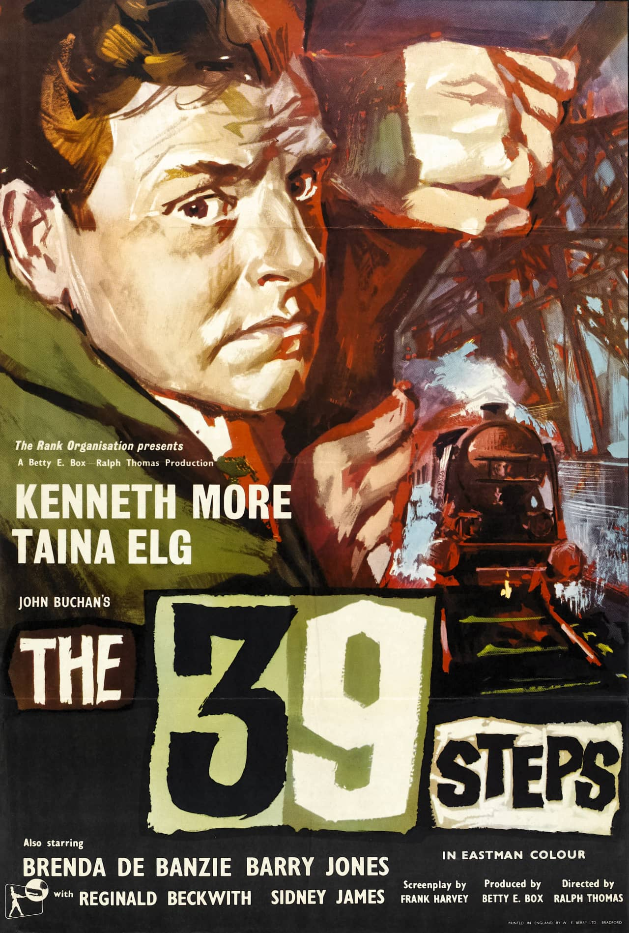 The 39 Steps (1959) UK poster