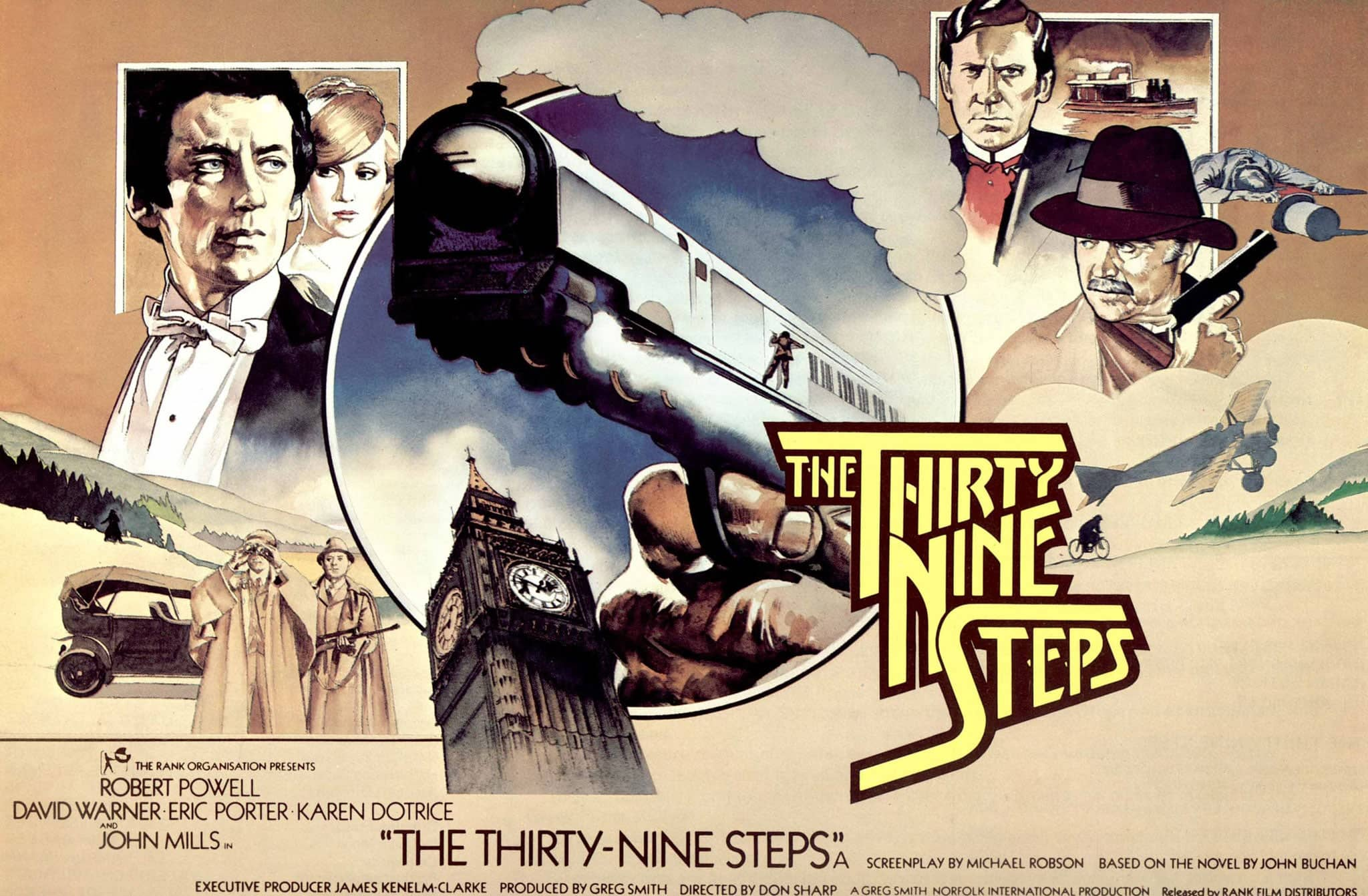 The Thirty Nine Steps (1978) UK poster