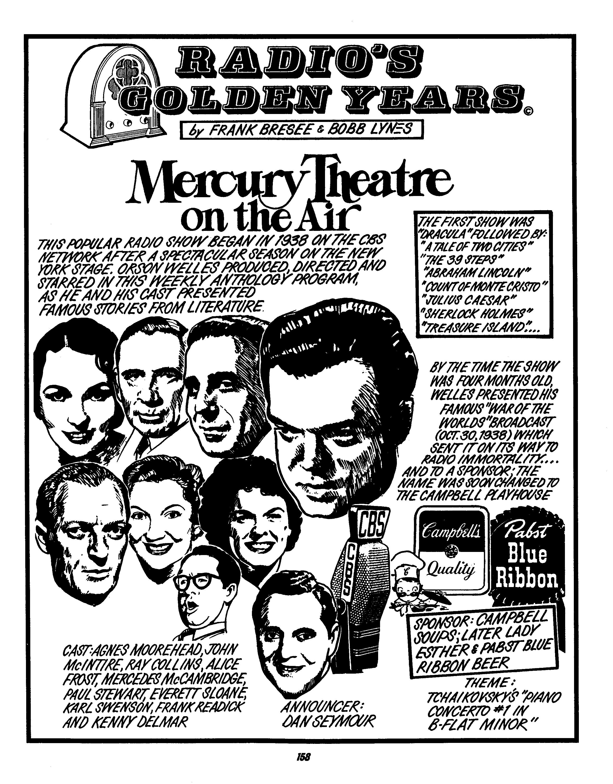 Mercury Theatre on the Air: Radio's Golden Years (1998) by Bobb Bresee and Frank Lynes