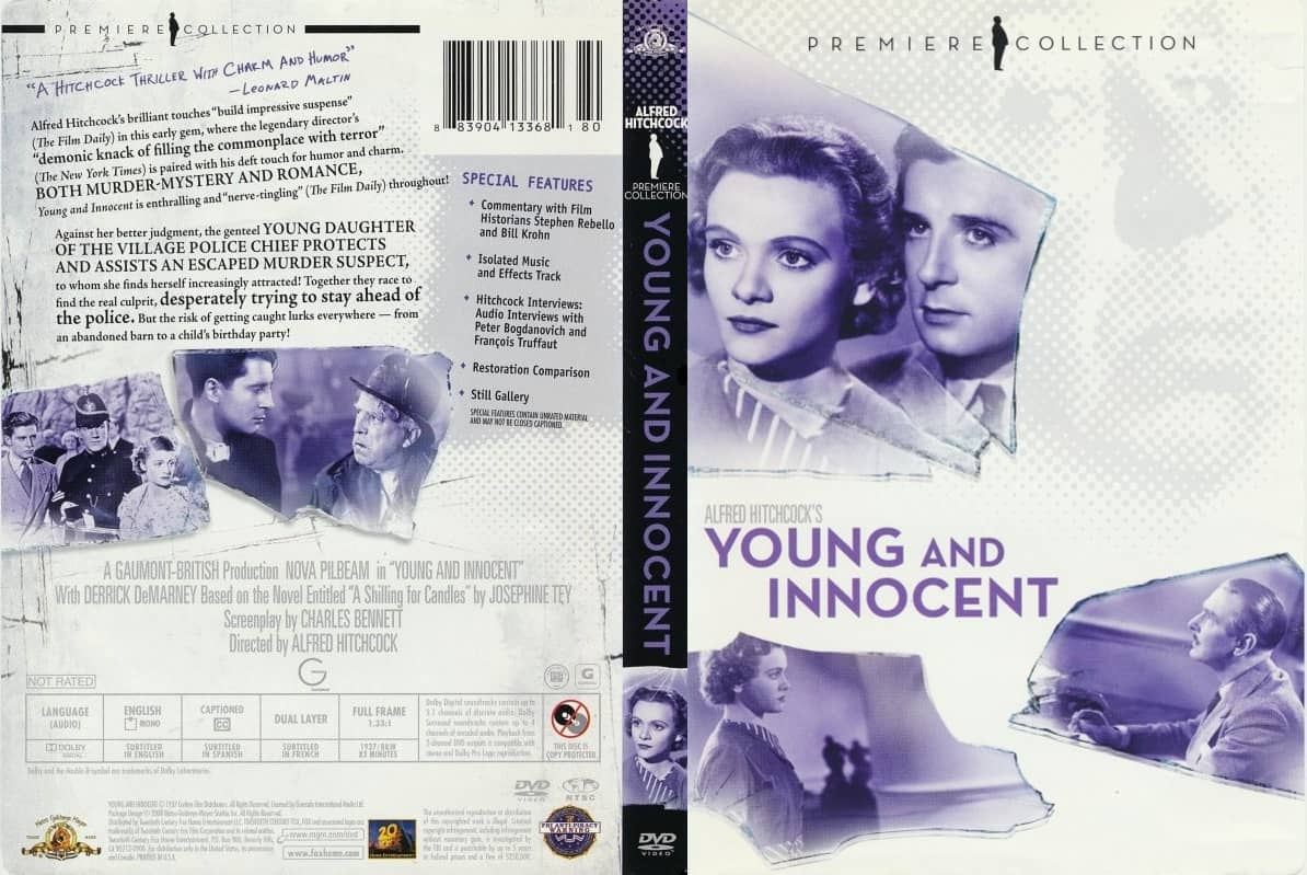 Young and Innocent (1937, dir. Alfred Hitchcock) US MGM DVD