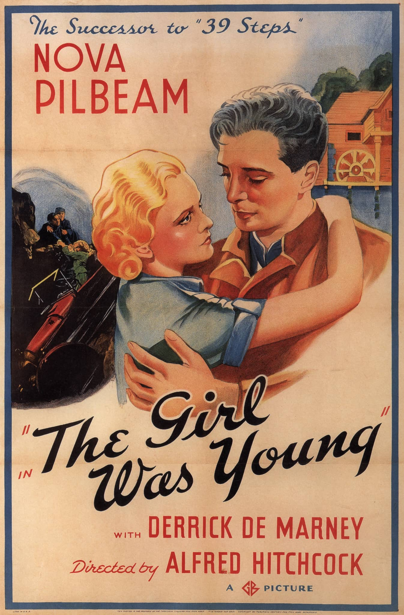 Young and Innocent aka The Girl Was Young (1937, dir. Alfred Hitchcock) US poster