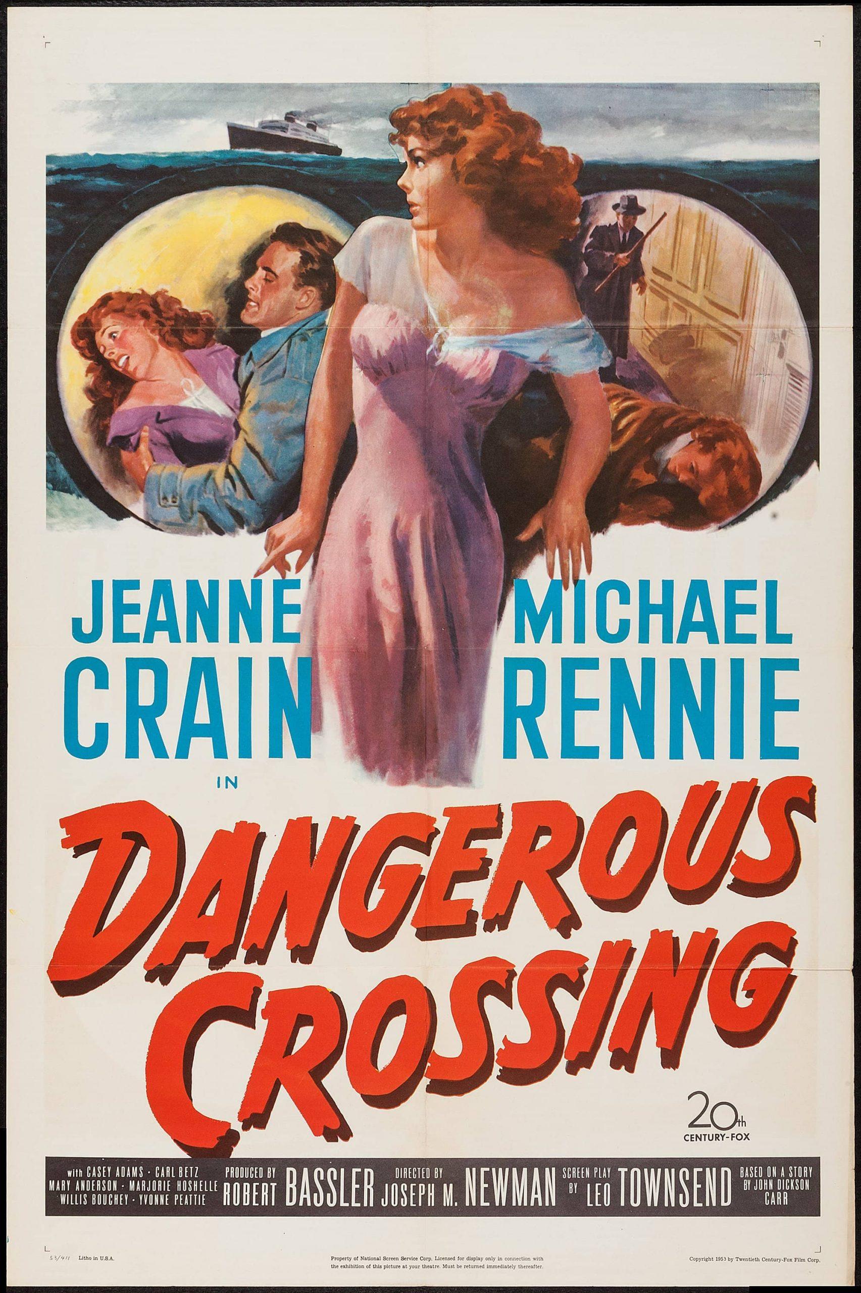 Dangerous Crossing (1953) US poster