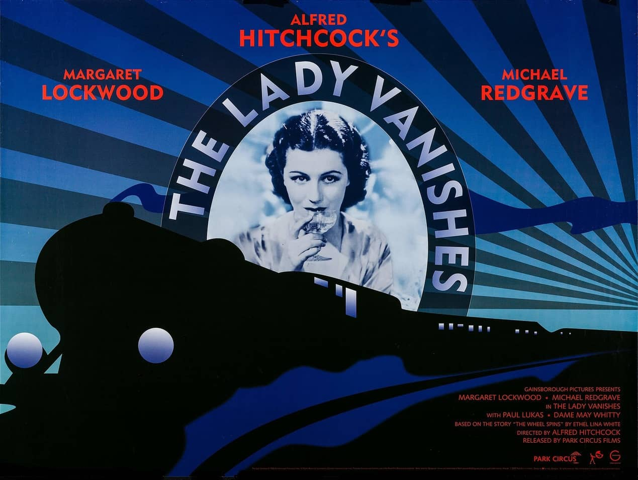 The Lady Vanishes (1938, dir. Alfred Hitchcock) UK 2008 re-release poster