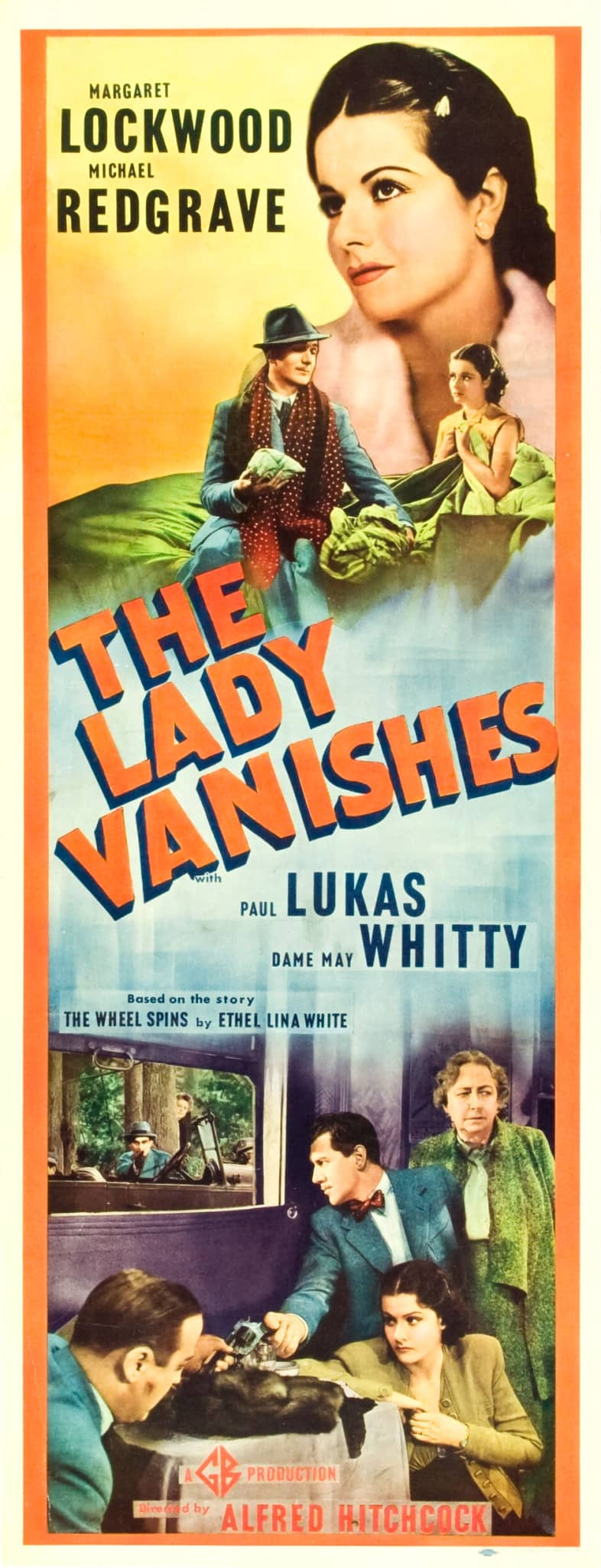 The Lady Vanishes (1938, dir. Alfred Hitchcock) US insert poster